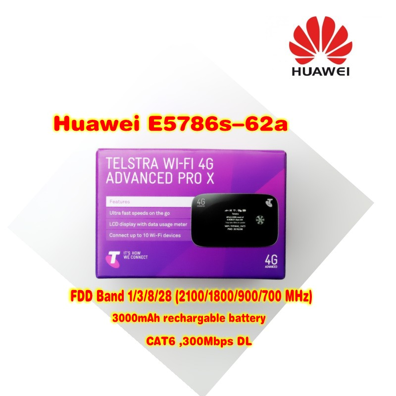 Купить с кэшбэком New Arrival Original Unlock 300Mbps HUAWEI E5786S-62A 3G 4G WiFi Router With 2pcs antenna And 4G LTE Cat6 Mobile  (plus antenna)