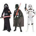2016 recién llegado de star war storm trooper darth vader (anakin skywalker) niños cosplay traje del partido ropa de capa y máscara
