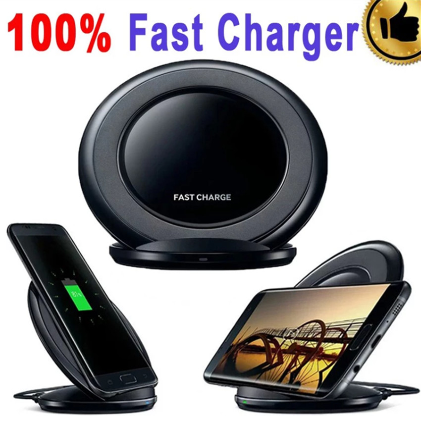 50pcs/lot Original Oem Qi Fast Wireless Charger Charging Pad For Samsung S7 S9 S8 And For IPhone 8 X Wireless Fast Charger
