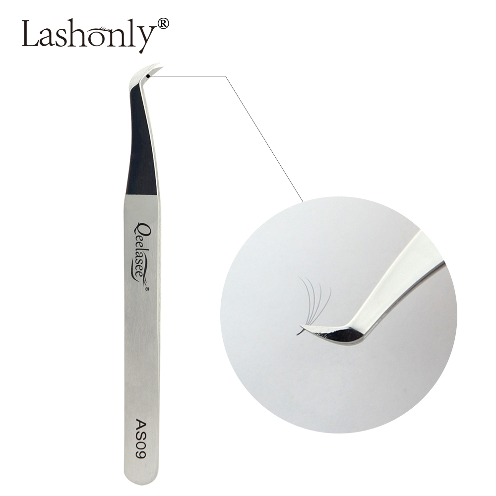Qeelasee AS09 Eyelash Tweezer 3D-6D Volume Extension Best Quality Fan Lash