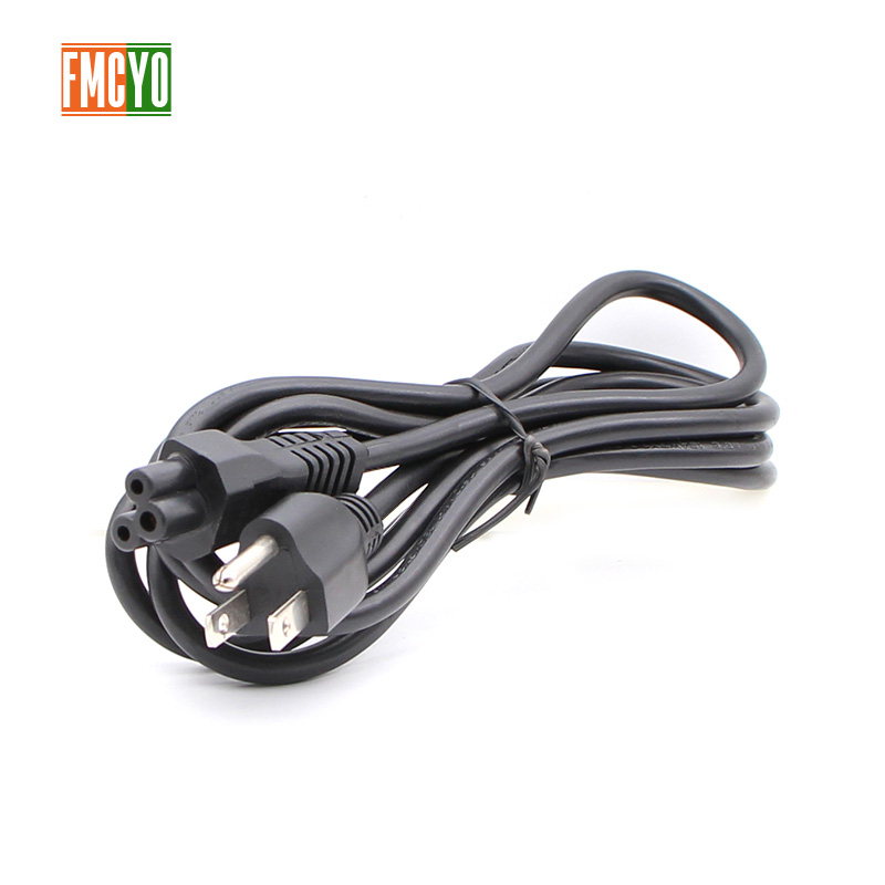 Image 3 - US 1.5m IEC C5 Power Cord 0.75mm2 Cloverleaf Power Supply Lead Cable For Notebook/Laptop/AC Adapters-in Computer Cables & Connectors from Computer & Office