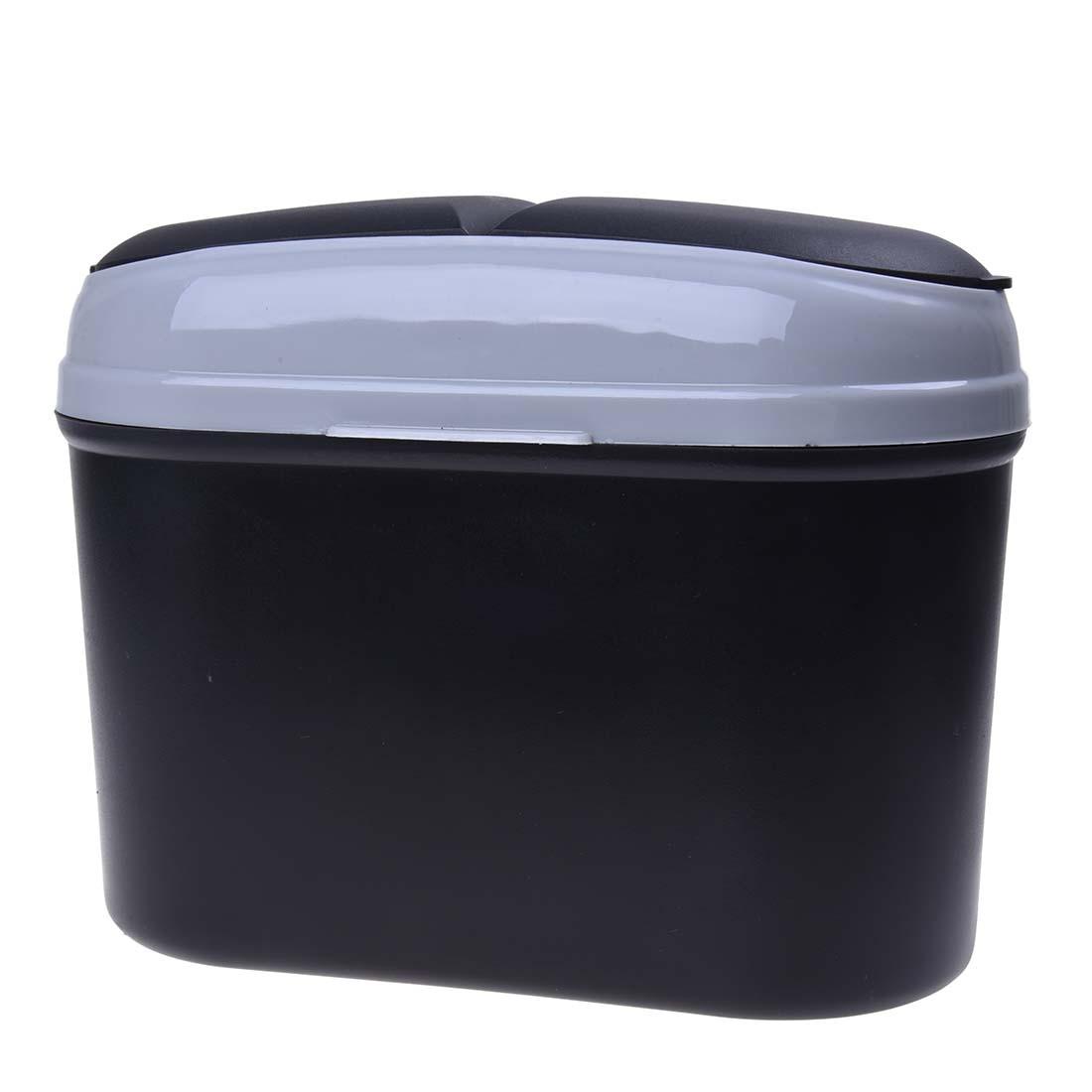 Mini Car Trash Rubbish Can Garbage Dust Case Holder Bin-black Grey