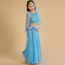 Girls Belly Dance Costumes Kids Belly Dancing Girls Bollywood Indian Performance Dancewear Children Oriental Dance Clothing Set
