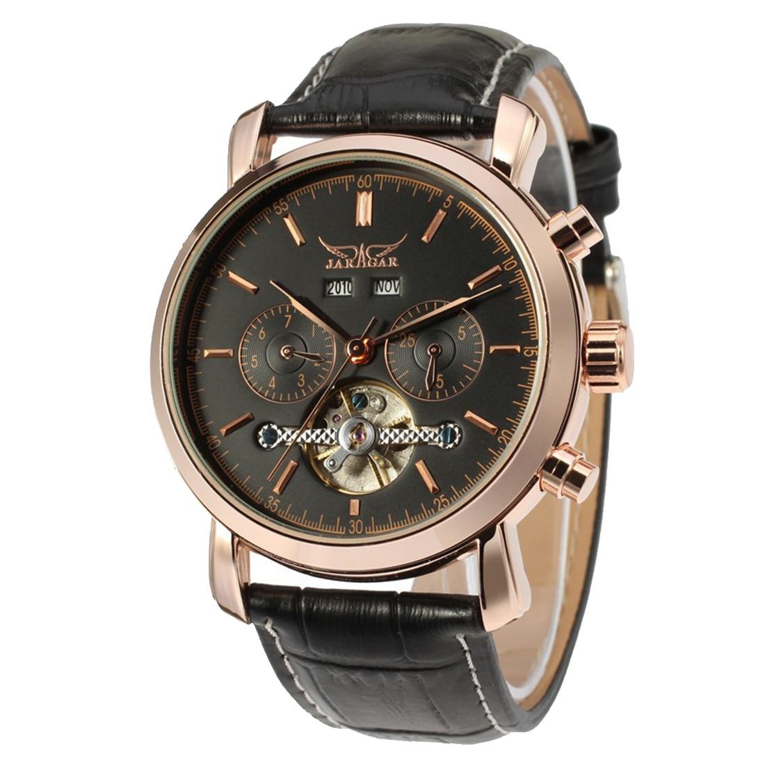 2017 Nice Hot Nice JARGAR Genuine Flywheel Wristwatch with Leather Band Mechanical Watch for Men цены онлайн