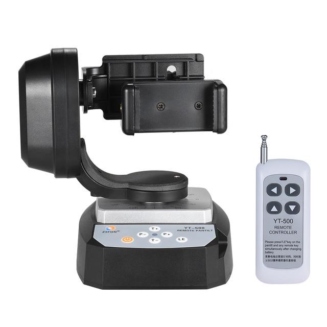 ZIFON YT 500 Uzaktan Kumanda Pan Tilt Otomatik Motorlu Döner Video Tripod Kafası Sabitleyici Smartphone Tripod Kafaları