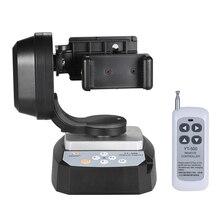 Zifon YT 500 controle remoto pan tilt auto motorizado girando cabeça de tripé vídeo estabilizador para smartphone tripé cabeças