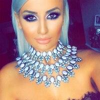 Ladyfirst 2016 New Multilayer Gem DIY Beads Statement Boho Collier Femme Crystal Maxi Statement Collar Choker