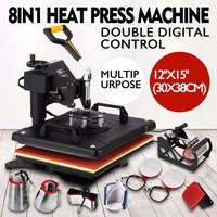 New Condition 8 in 1 Combo Heat Press Machine for T-shirt Sublimation Mugs Hat Plate