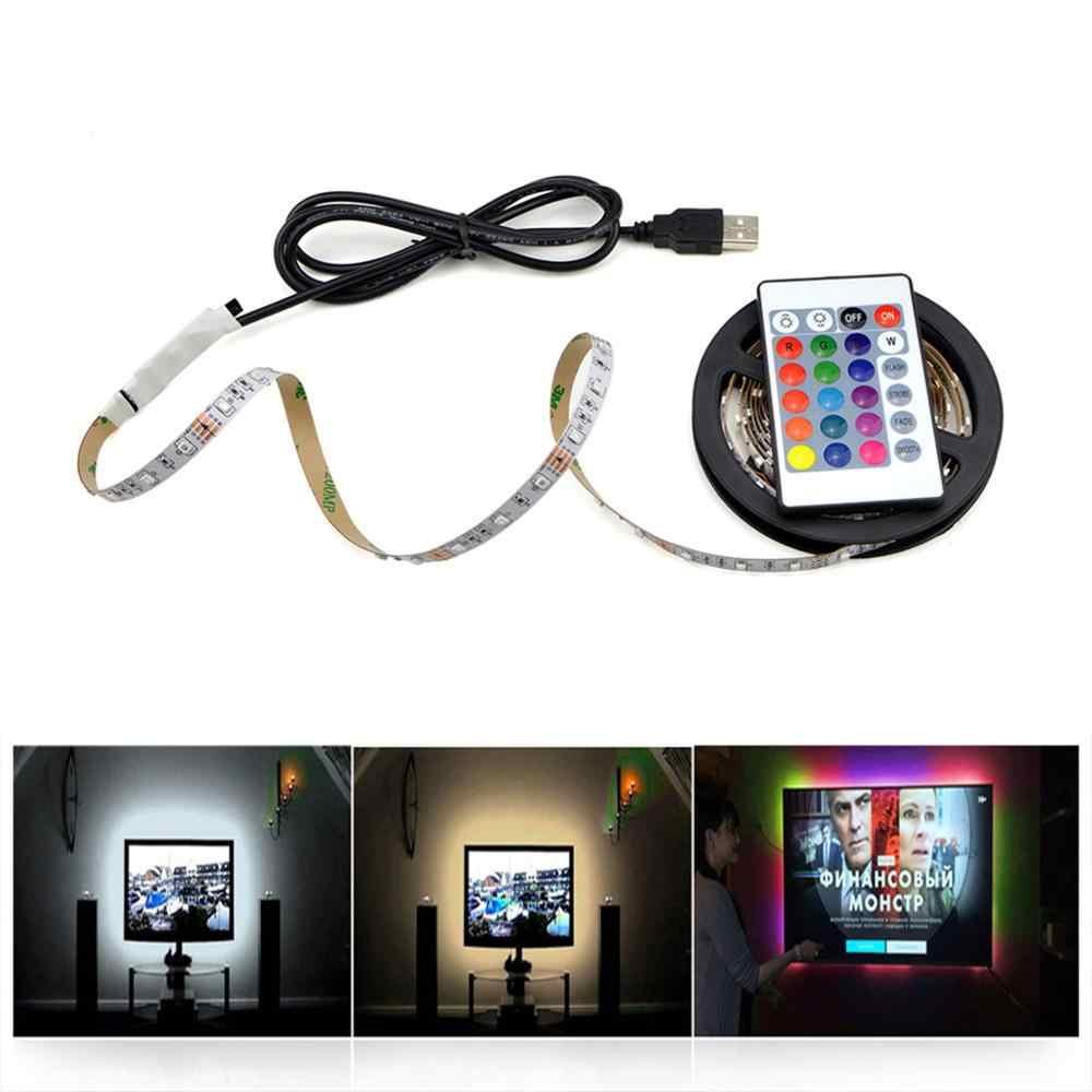 Светодиодная лента постоянного тока 5 В 2835 3528 USB Водонепроницаемый светодиодный ленточный светильник белый/теплый белый/RGB ТВ ПОДСВЕТКА кухонный шкаф ленточная лампа