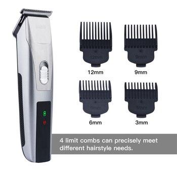 Cortadora de cabello eléctrica recargable Clipper pelo Pelo barba Trimmer  máquina de afeitar para los hombres c3167e8af15c