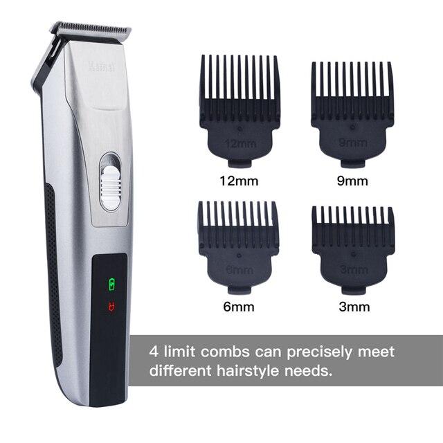 Cortadora de cabello eléctrica recargable Clipper pelo Pelo barba Trimmer  máquina de afeitar para los hombres dd480df9ce61