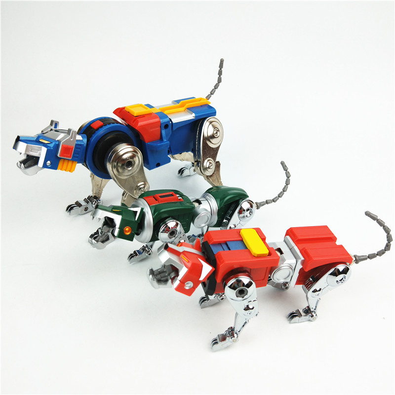 IN Stock Super Alloy Lion Voltron Soul Beast King GoLion Metal Transformation Robot Action Figure Toy Christmas Gift For Kids in Action Toy Figures from Toys Hobbies