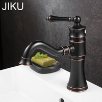 Antique Copper Bathroom Faucets Basin Faucets Brass Oil Rubbed Bronze Black Faucet Bathroom Hand Shower Hot Cold Mixer Water Tap