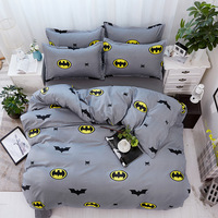 Luxury Batman Bedding Sets 3/4pcs Geometric Pattern Bed Linings Duvet Cover Bed Sheet Pillowcases Cover Set