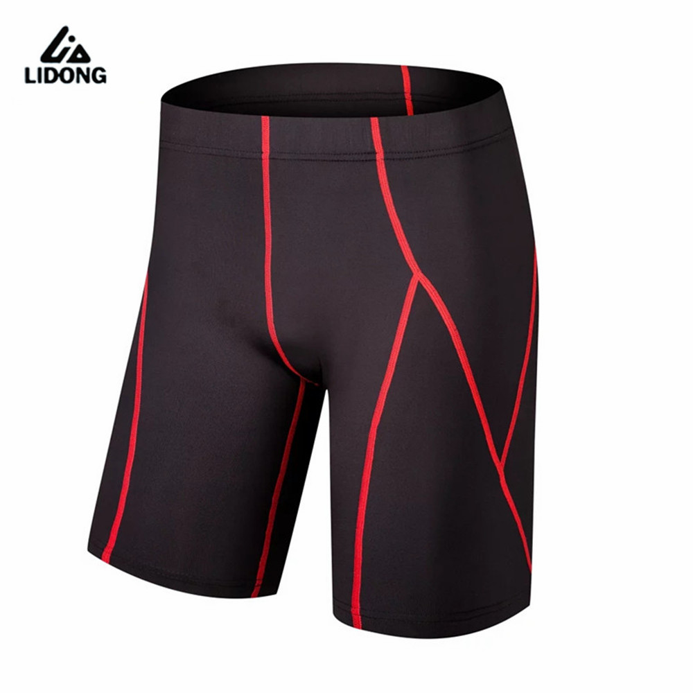 2017 New Men Running Shorts Sports Gym Clothing Compression Tights Spandex Lycra short pant Tight Legging Basketball Leg elastic