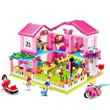 Город девушка друзья большой сад вилла модель строительные блоки Legoes кирпич техника Playmobil игрушки для детей Подарки