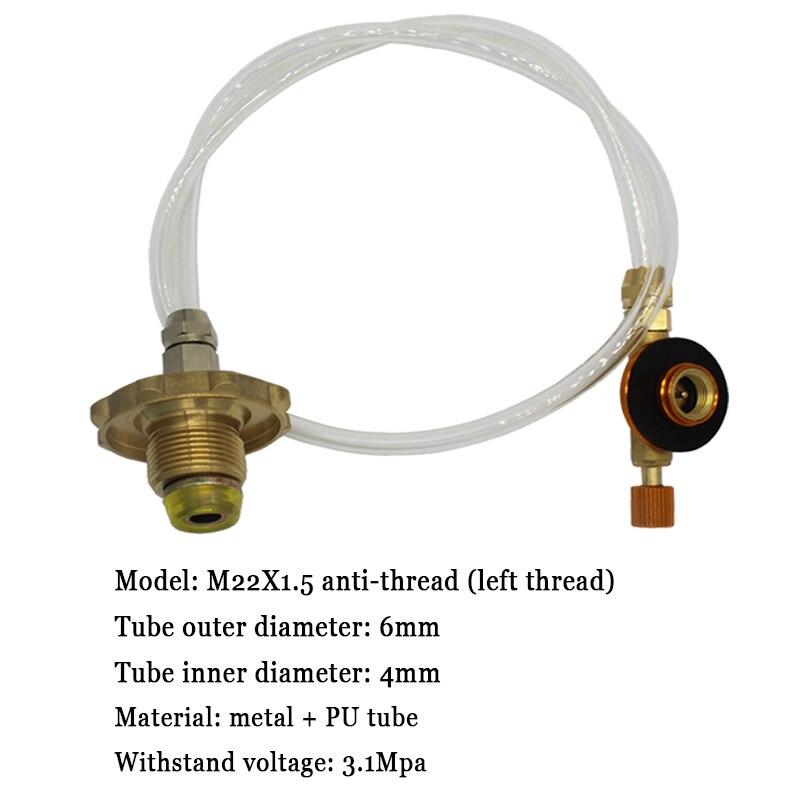 Lauko kempingo dujinės viryklės propano pildymo adapterio bako - Kempingai ir žygiai pėsčiomis - Nuotrauka 6