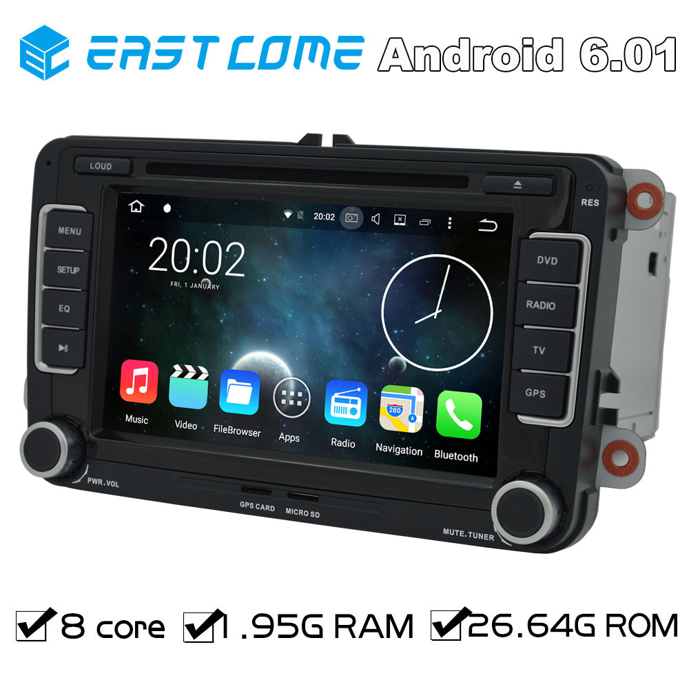 Quad Core 2 Din Android 5 1 1 Car DVD Automotivo For VW PASSAT CC 2008