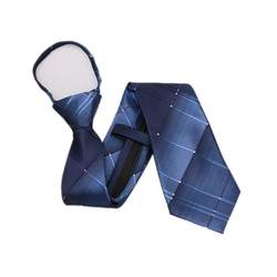HOOYI мужские легко галстуки на молнии мода плед полосы Бизнес предварительно связали Галстуки