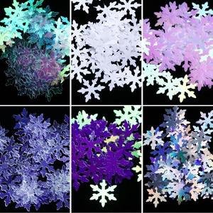 Image 5 - 전체 아름다움 12 그리드 네일 반짝이 눈송이 스노우 크리스마스 diy 플레이크 paillette 매니큐어 슬라이스 네일 아트 장식 세트 CHXHH01 05