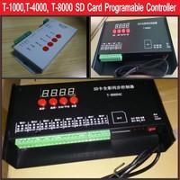 T-1000 T-4000 T-8000 RGB LEVOU controlador de pixel Cartão SD Programável Controle SK6812 WS2801 WS2811 LPD6803 WS2812B levou pixels tira
