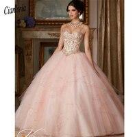 Princess Popular Puffy Ball Gown Coral Quinceanera Dresses 2019 Sweet 16 Dress Vestido De 15 Anos Custom