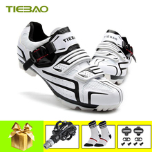 цена на Tiebao Professional Men Women Bicycle Cycling Shoes Self-Locking MTB Mountain Bike Shoes Breathable Pedals Riding MTB Sneakers