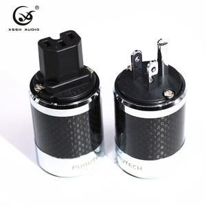 Image 5 - YIVO High QualityFI 50&FI50M Carbon Fiber Rhodium Plated AC Power Electrical Male female connector IEC EU US IEC hifi Plug