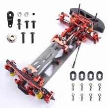 1/10 Aleación y Al Carbono Fibra 078055R G4 1/10 4WD Deriva Hotsa para RC de Control RC Racing Car Kit de Marco Rojo coche