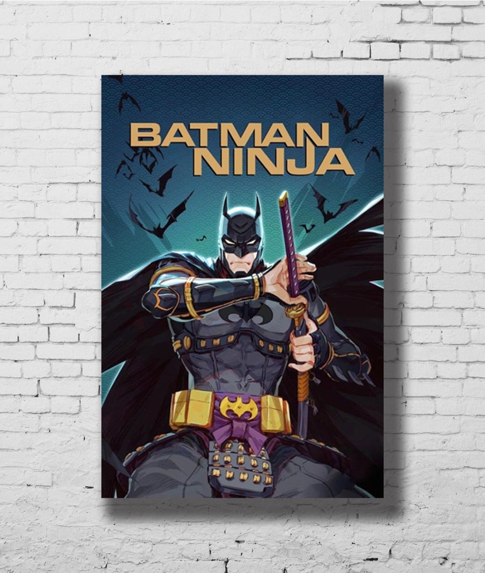 G-142 Batman Ninja Movie Dc Comics 2018 Film 01 Fabric Home Decoration Art Poster Wall Canvas 12x18 20x30 24x36inch Print Painting & Calligraphy