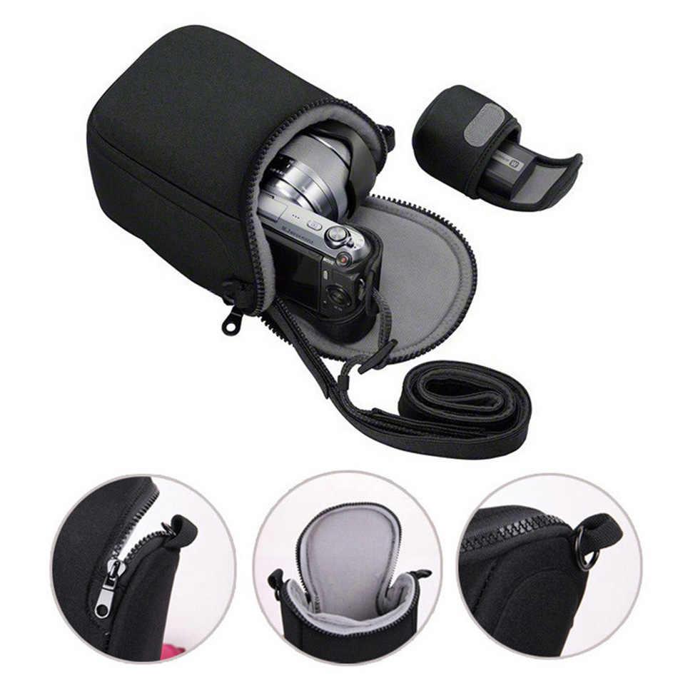Su geçirmez kamera çantası Canon EOS M100 M3 M10 M M2 M6 G7X2 SX730 Nikon J5 J4 J3 Sony A6000 A6300 a5000 A5100 NEX-5N 16-50 Lens