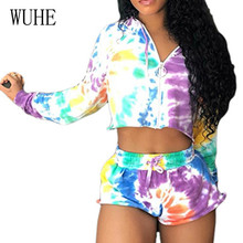 WUHE 2 Pieces Sets Long Sleeve Hooded Crop Top+ Skinny Pants Women Vintage Zipper Playsuits Autumn Casual High Street Jumpsuits
