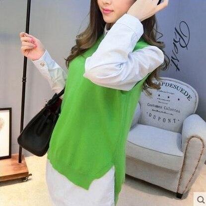 US $14.04 70% OFF|TAILOR SHEEP women vest waistcoat jacket women sweater loose vest o neck pullover big yards wool vest female hedging|waistcoat