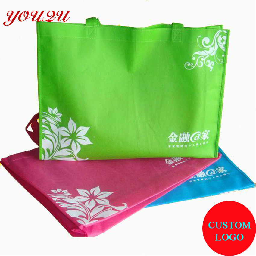 b9ba00713a57 Custom promotion bag non woven material easy carry and foldable-in Shopping  Bags from Luggage   Bags on Aliexpress.com
