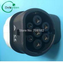 16A EV side IEC62196  European standard plug  no cable Three phase IEC female AC plug