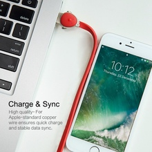 ROCK Chicken Zinc Alloy USB Charger Cable for iPhone 7/8/X