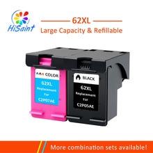 цены на Hisaint 62XL Refilled Ink Cartridge Replacement for HP 62 XL cartridge for HP Envy 5640 OfficeJet 200 5540 5740 5542 7640  в интернет-магазинах