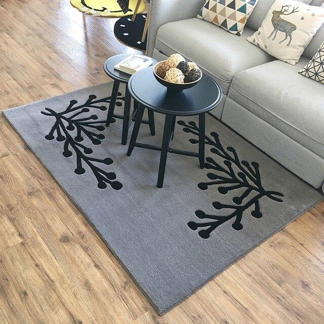 Tapis Gris Geometrique De Style Simple Tapis Table Basse Salon D Epaisseur 1 6 Cm Decoration Maison Pastorale