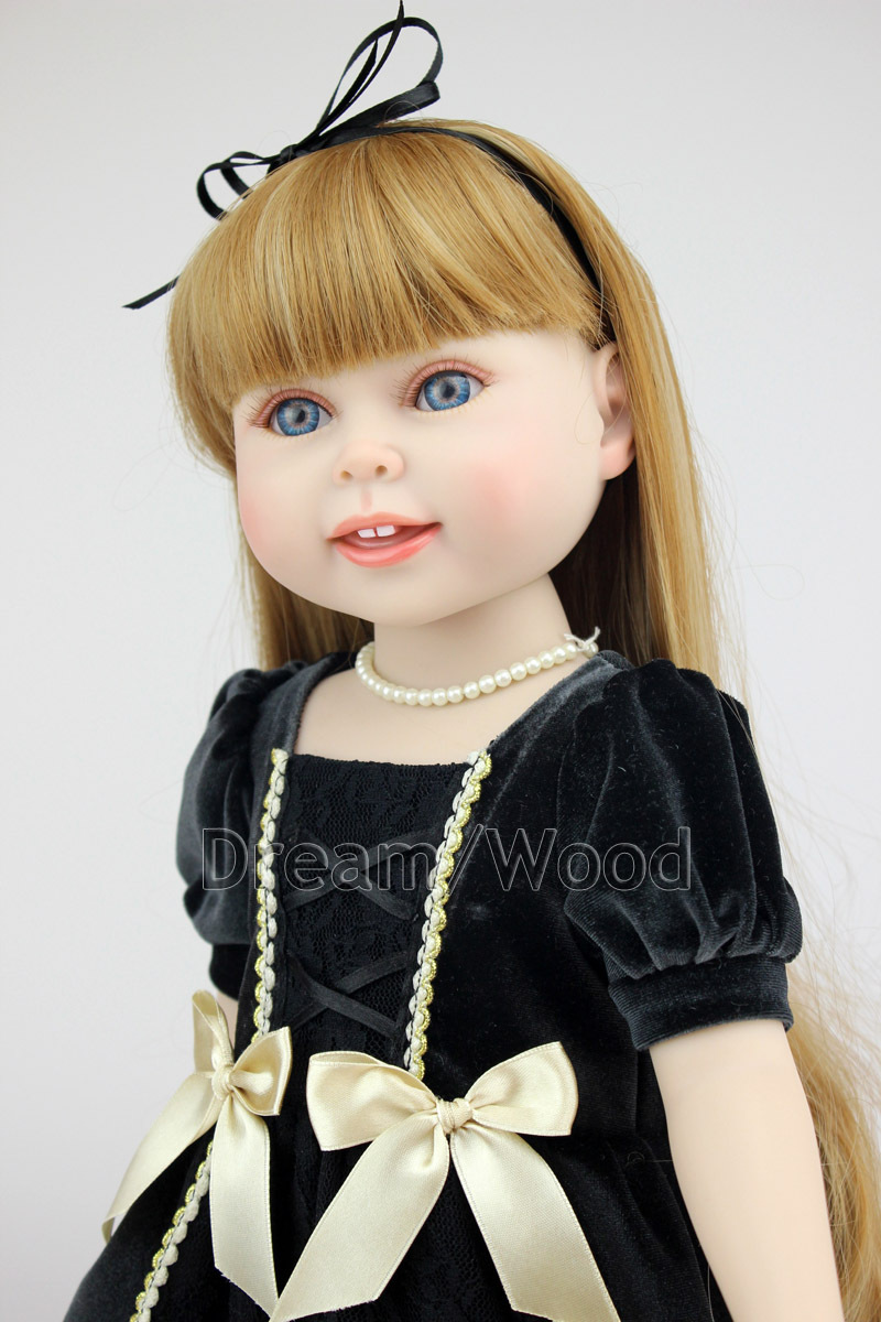 New American Girl Dolls 45cm Silicone Reborn Baby Doll Handmade Soft Fashion Girls Brinquedos Gift with Vintage Clothes new year merry christmas gift 18 american girl doll with clothes doll reborn silicone reborn baby doll our generation doll