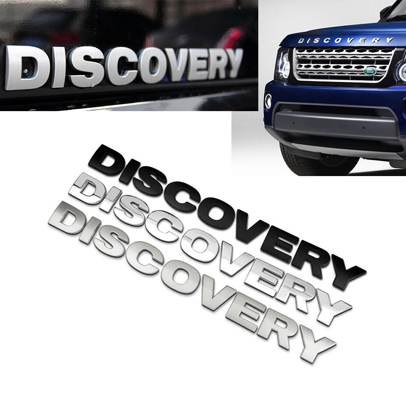 1Pcs Car Words Sticker Rover Discovery Front Hood Emblem head Bonnet Logo Decal ABS