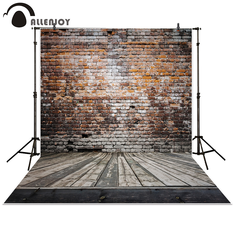 Allenjoy backdrop for photographic studio Broken wooden brick wall background vinyl photography backdrop photo studio photobooth