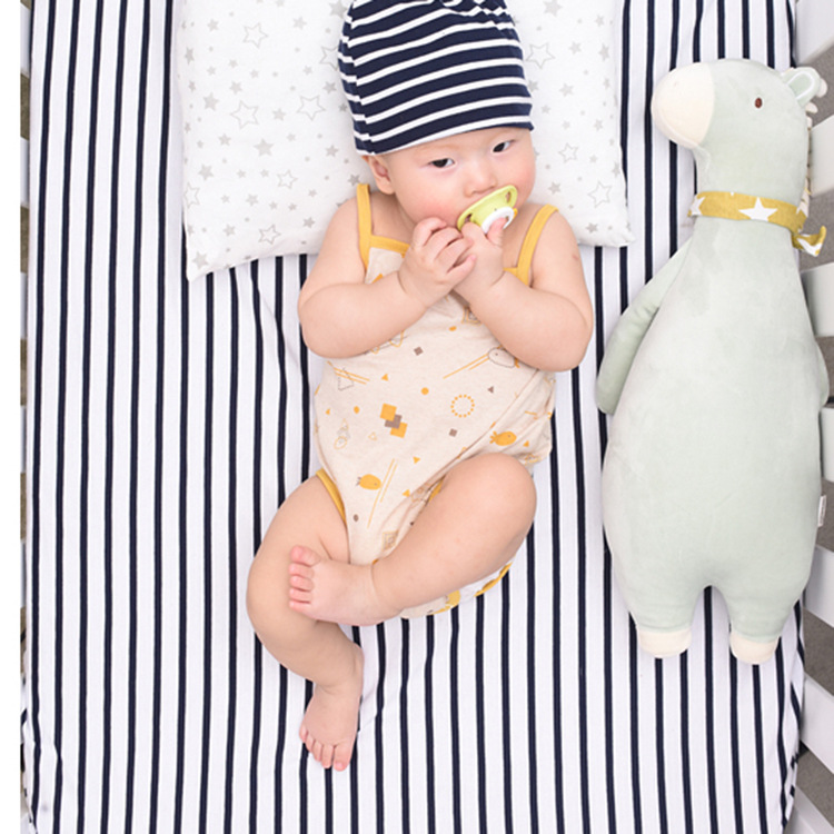 MAINEOUTH Summer Baby Girl Boy Clothes Cool One-piece Cotton Newborn Home Creeping Sweat Uptake Clothes Vest 0-6Month