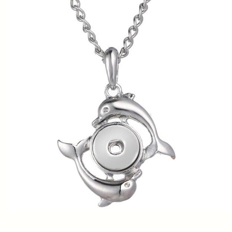 Dolphin Snap Button Necklace