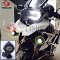 Frete grátis 1 pair 15 W Spot LED Trabalho de Condução de Luz de Nevoeiro Da Motocicleta Bicicleta da sujeira ATV/Caixa Chrome para BMW KTM para Honda para Harley
