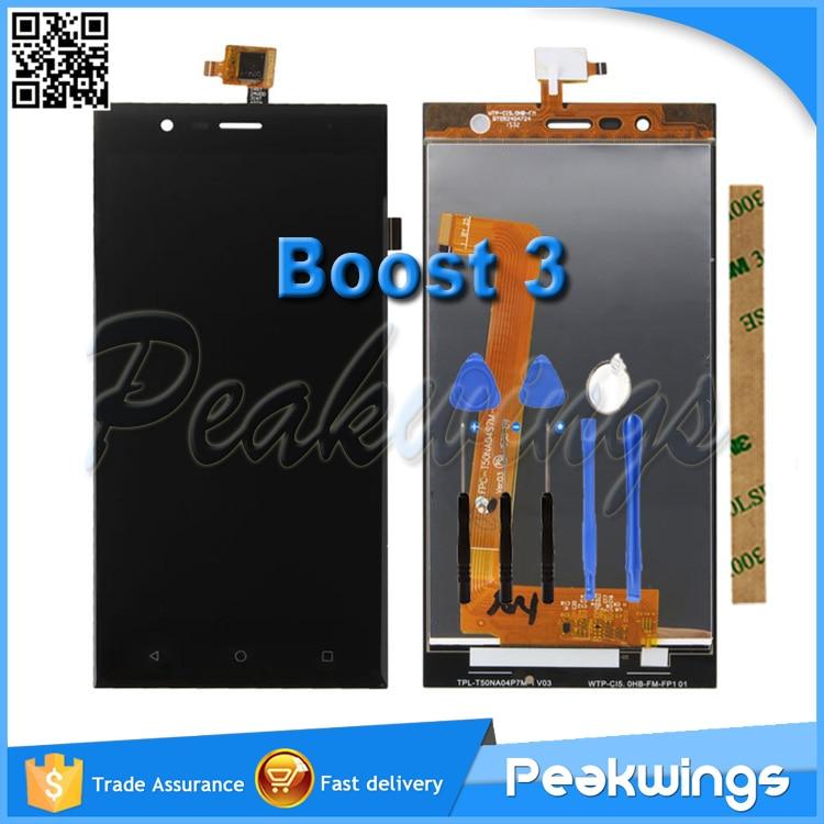 imágenes para Boost 3 Boost3 LCD Para Highscreen Boost 3 LCD Pantalla Táctil Digitalizador Asamblea + 3 M Sticker + Herramientas + Track