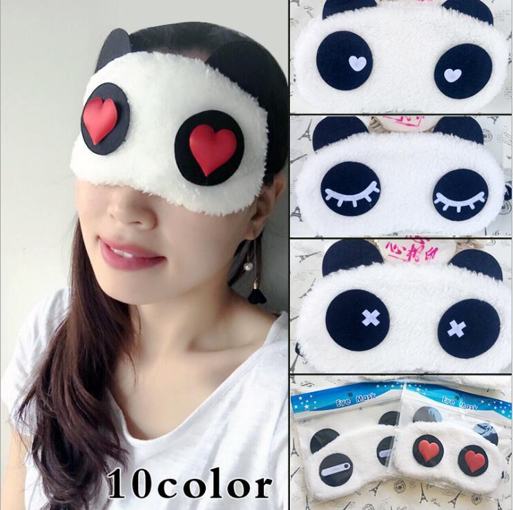 50 pcs lot Cute China Panda Sleeping Face Eye Mask Blindfold Eyeshade Traveling Sleep Eye Patch