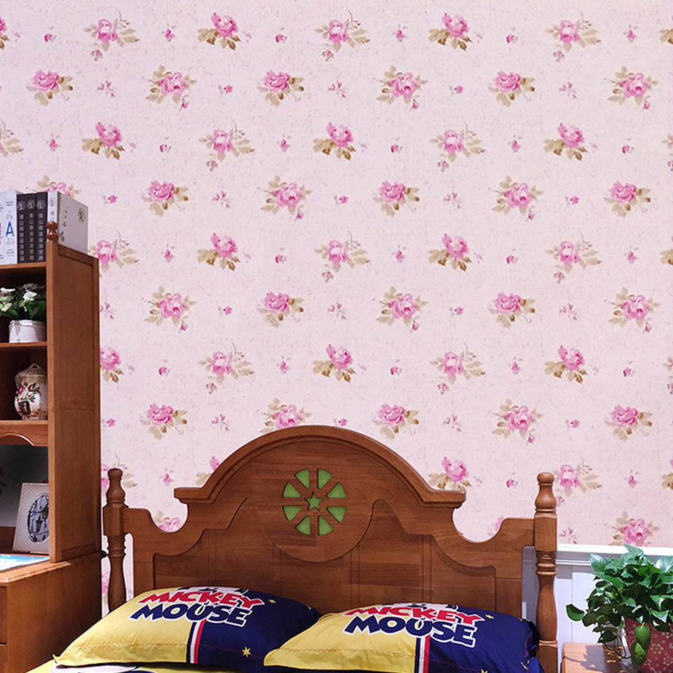 Self Adhesive Retro Pink Floral Wallpaper Shelf Liner Peel Stick Dresser Drawer Sticker Home Furniture Decor Wall Stickers Aliexpress