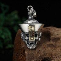 Wholesale S925 Sterling Silver Jewelry Thai Silver Necklace Pendant Taro Zombie Retro Personality Men And Women Pendant