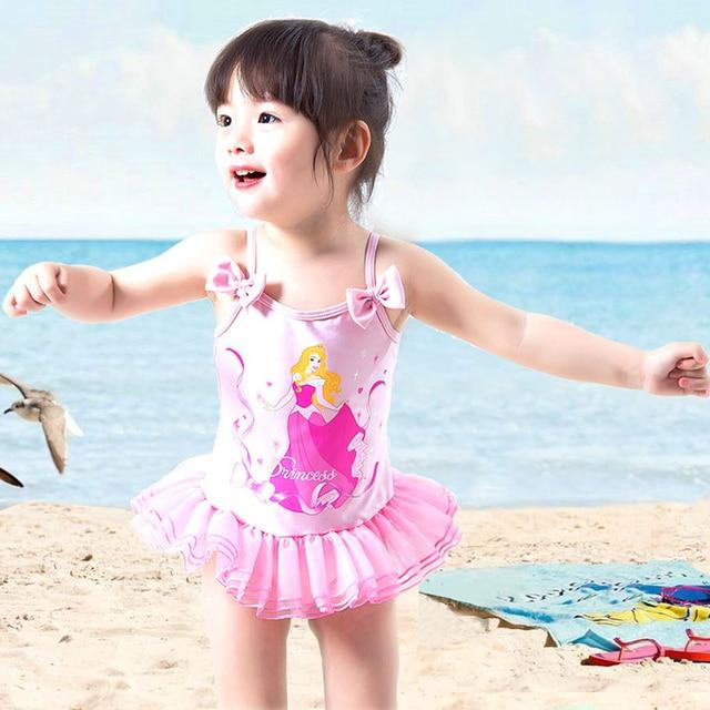 Cartoon Girl Toddler Kids Swimming Costumes Baby Girls Tankini