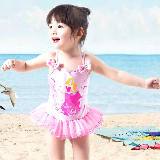 10efaf91e03f9 Cartoon Girl Toddler Kids Swimming Costumes Baby Girls Tankini Bikini  Swimwear Beach Monokini Swimsuit Bathing Suit Beachwear